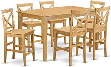 7 PC counter height Table and chair set - high top Table and 6 dinette Chairs.
