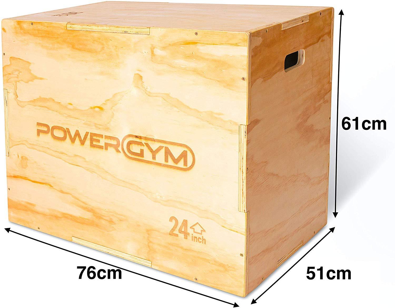Powergym Plyo Jump Box de Madera 3 en 1 - Cubo de Crossfit para Fuerza y acondicionamiento y Entrenamiento Funcional: Amazon.es: Deportes y aire libre