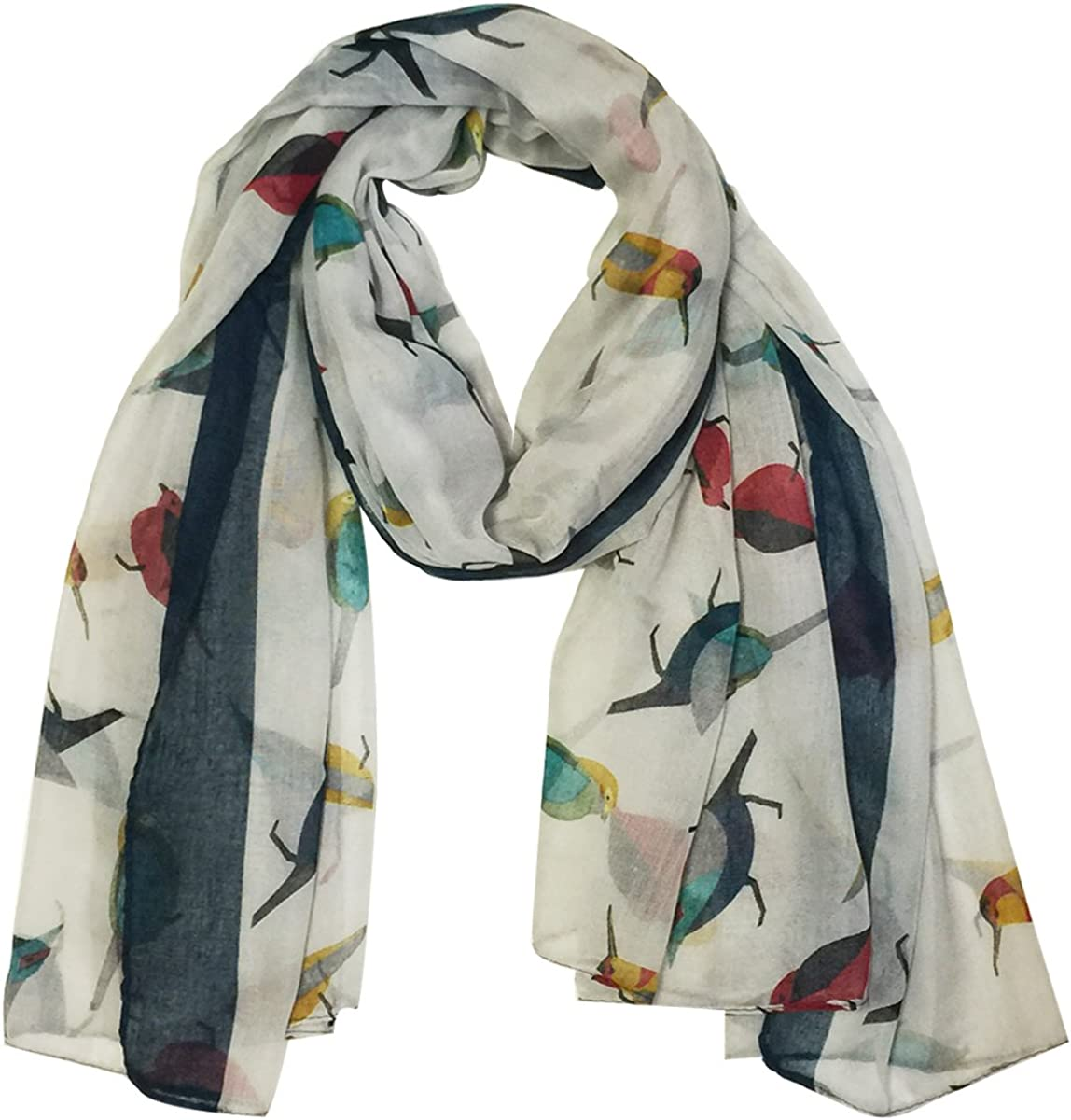 Oklahoma City Mall Wrapables Soft Viscose Bird Print Multi-Style S Safety and trust Shawl Scarf Wrap