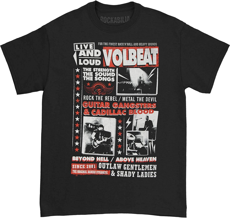 Volbeat Industry No. Max 78% OFF 1 Men's Discography Black T-Shirt
