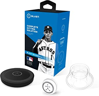 Blast Baseball Swing Trainer, Analyzes Swing, Tracks Metrics, Video Capture Creates Highlights, App Enabled, iOS and Android Compatible, Real Time Results, Official Bat Sensor Tech of MLB (Renewed)