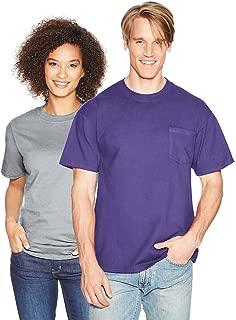 Hanes Beefy-T Adult Pocket T-Shirt_Purple