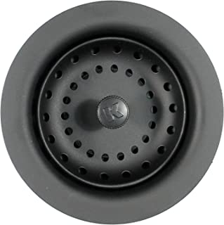 Keeney Manufacturing K5414BLK Sink Strainer with Fixed Post Basket, Black