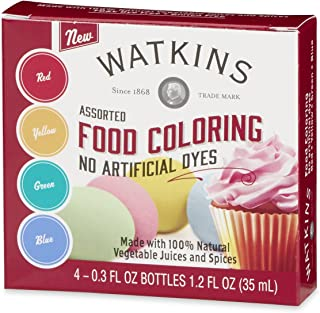 watkins assorted food coloring 1.2 oz