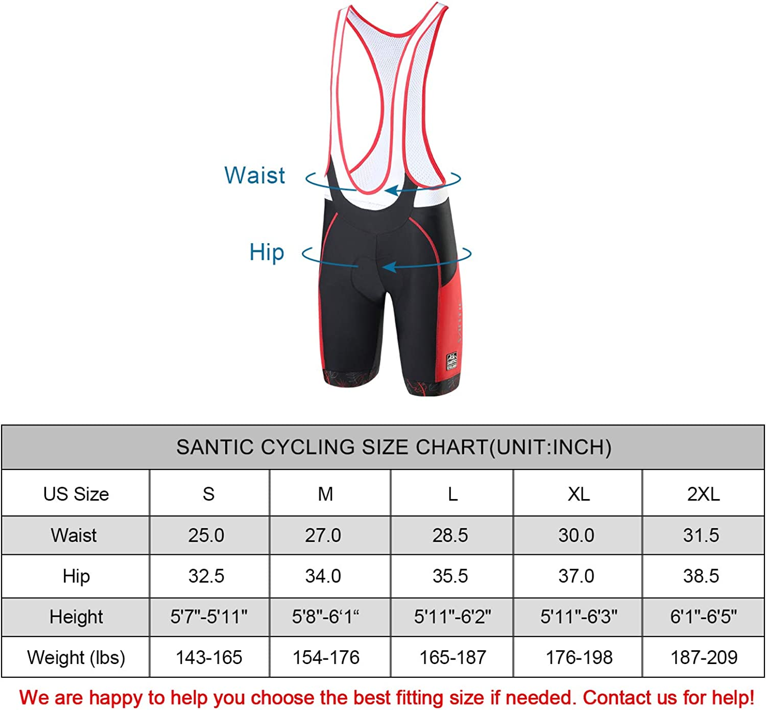 Santic Cycling Bike Bib Shorts Men Padded Tights Bicycle Pants Excellent Performance