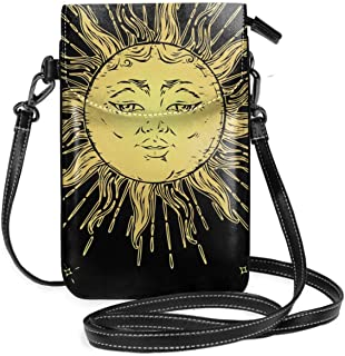 Cell Phone Purse Smartphone Wallet with Shoulder Strap Handbag for Women Astronaut Sloth Galaxy Space Small Crossbody Bag