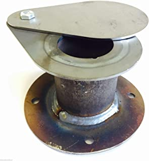 BBQ Smoker Supply Uds Ugly Drum Parts Intake Teardrop Vent damper 1-1/2 flangeGY#583-4 6-DFG273375