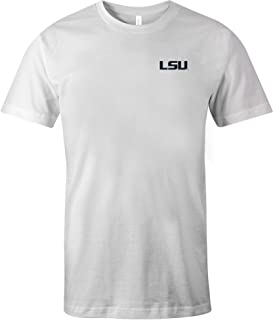 NCAA LSU Tigers Adult US Flag State Jersey Short sleeve T-Shirt, X-Large,White