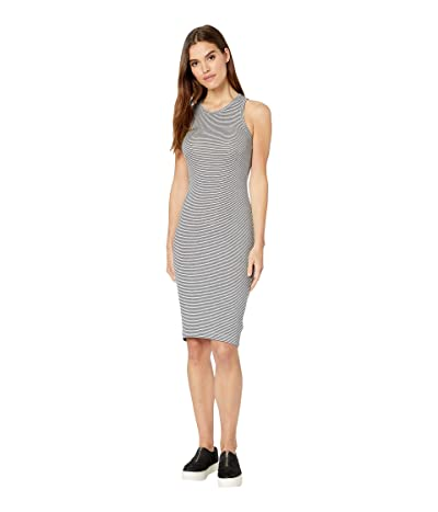 Splendid Knit Tank Dress (Heather Grey/Navy) Women