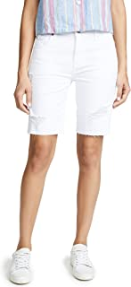 7 For All Mankind Women's High Waisted Straight Bermuda Shorts