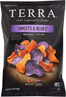 TERRA CHIPS, CHIP, SWEETS & BLUES, SSLT, Pack of 12, Size 5.75 OZ - No Artificial Ingredients GMO Free Kosher