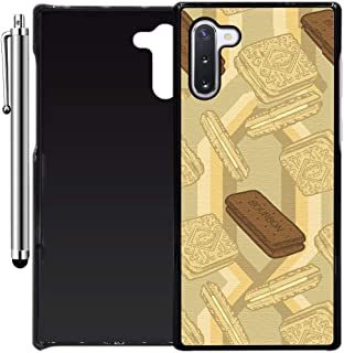 Custom Case Compatible with Galaxy Note 10 (Bourbon Biscuits) Plastic Black Cover Ultra Slim | Lightweight | Includes Stylus Pen by Innosub