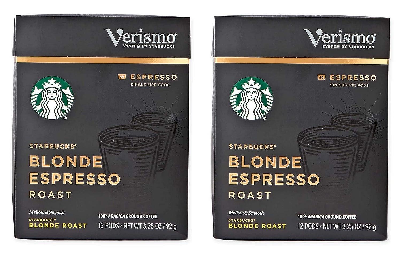 Starbucks Blonde New sales Lowest price challenge Espresso Roast Verismo Pods Pack 2 of
