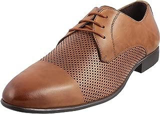 Mochi Men's Tan Leather Formal Shoes-9 UK/India (43 EU) (19-5055-23-43)