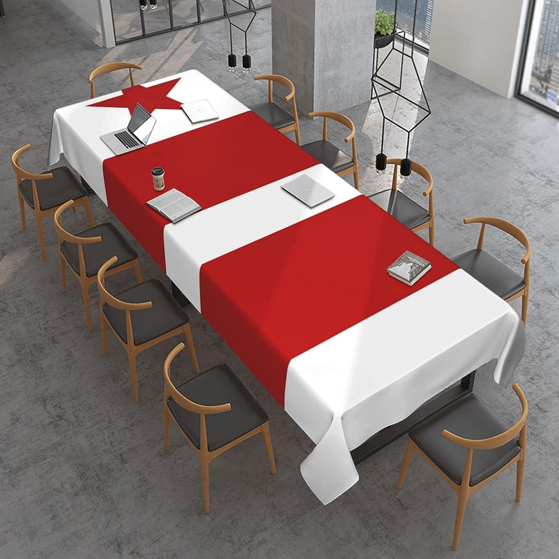 Washington Dc Arlington Mall Flag Rectangle Table Oil Spill Cloth High order Proof