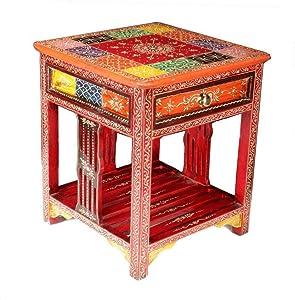 Kamdhenu art and craft Bedside Table Multi Color (16 x 16 x 18 Inch)