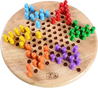 UMTOY Wooden 2 in 1 Chinese Checkers & Gobang (Five in a Row) Family Board Games Set