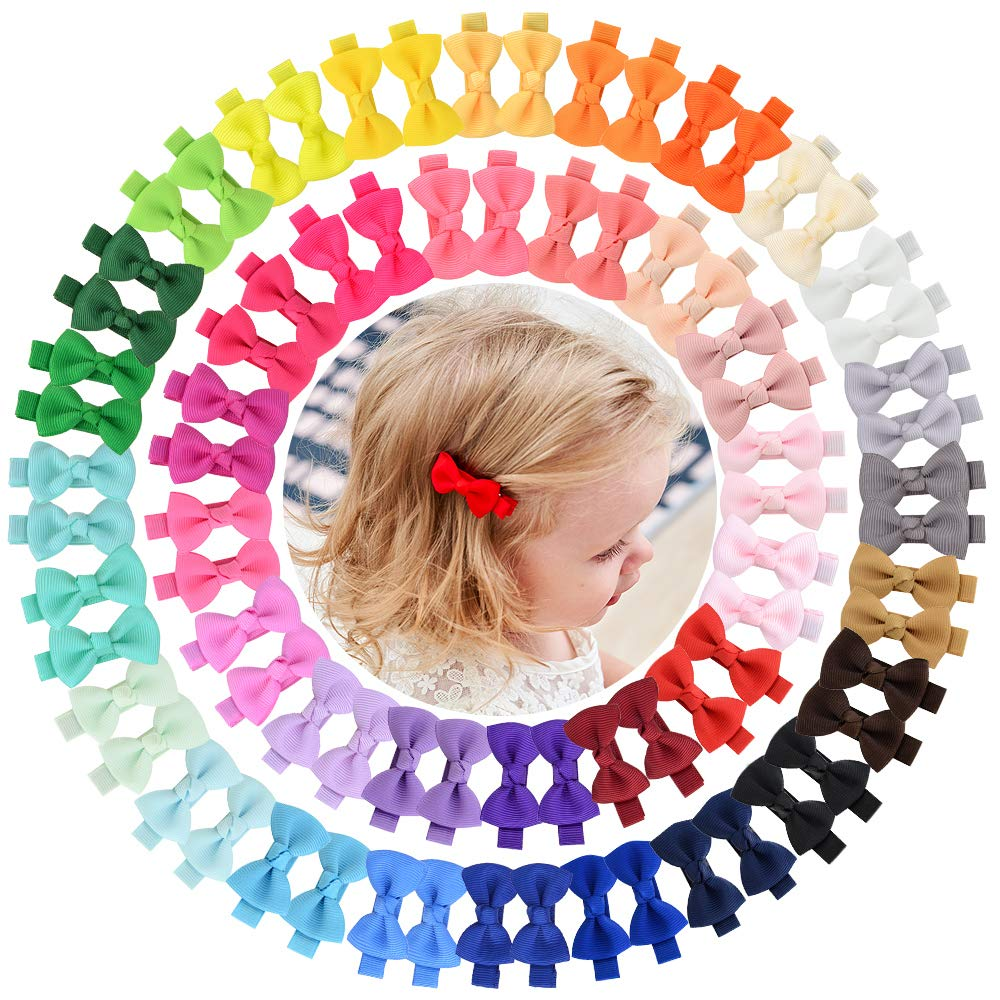 80PCS 40Colors in Pairs 2'' Baby Grosgrain Fully OFFicial Large special price !! site Lined Girls Bou