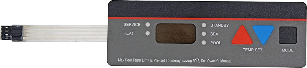 State Warehouse Pool Heater Replacement Control Panel Keypad Membrane Switch Replace for Hayward Compatible All H-Series Pool Heaters;Fits H100ID1 H150 H150FDN H150FDP H200FDN Series