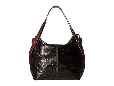 Hobo Elegy (Black) Satchel Handbags