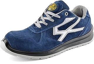SAFETOE Chaussures de Sécurité Hommes Femme Cuir- L7328 S1P Chaussure de Securite en Composite Montante Legere, Anti Gliss...