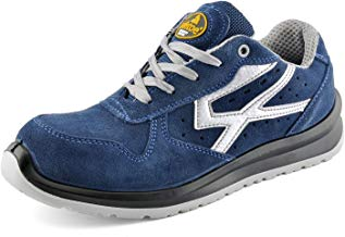 Zapatos de Seguridad para Hombres con Puntera de Fibra de Vidrio - SAFETOE 7328 Zapatillas Ultra-Ligeras Azul
