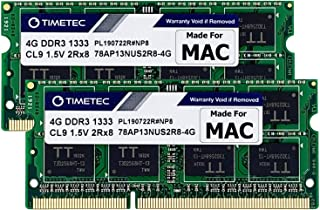 Timetec Hynix IC compatible with Apple 8GB Kit (2x4GB) DDR3 1333MHz PC3-10600 SODIMM Memory Upgrade For MacBook Pro/iMac/M...