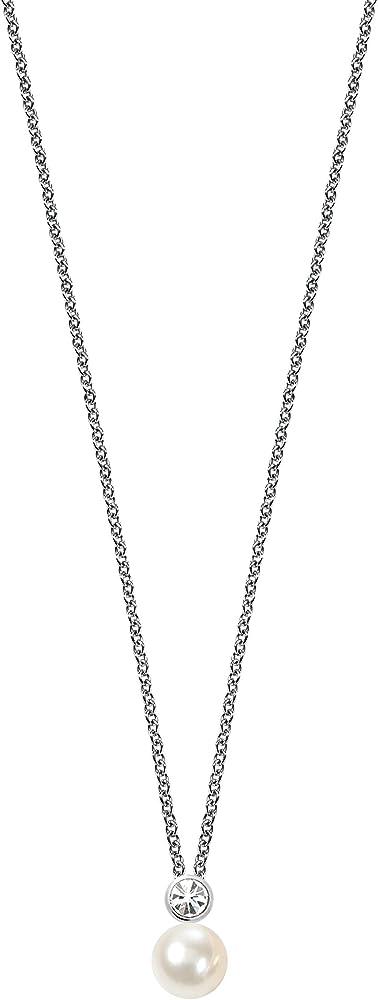 Morellato, collana da donna in argento 925,con perla bianca e zirconi SANH02