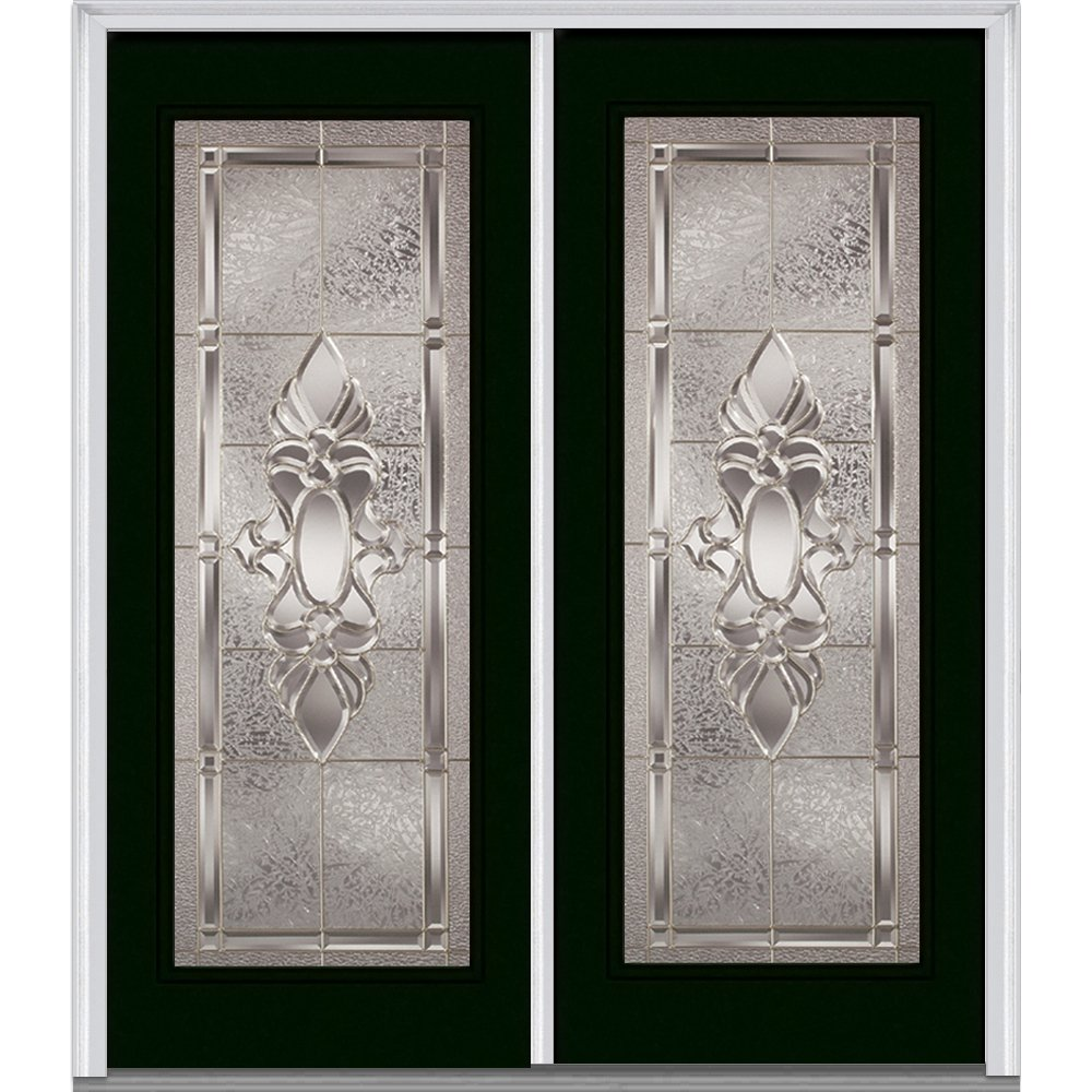 National Door Company At the price ZZ16260R Hunter Fiberglass Classic Green Smooth