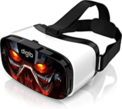 VR Headset for iPhone and Android Phones - Virtual Reality Goggles | Comfortable & Adjustable VR Glasses with Full Eye Pro...