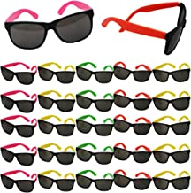 Funny Party Hats Sunglasses in Bulk - Neon Party Sunglasses - Party Favors - Neon Party Supplies (24 Pack)