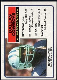 Football NFL 1983 Topps #42 Tony Dorsett TL Cowboys