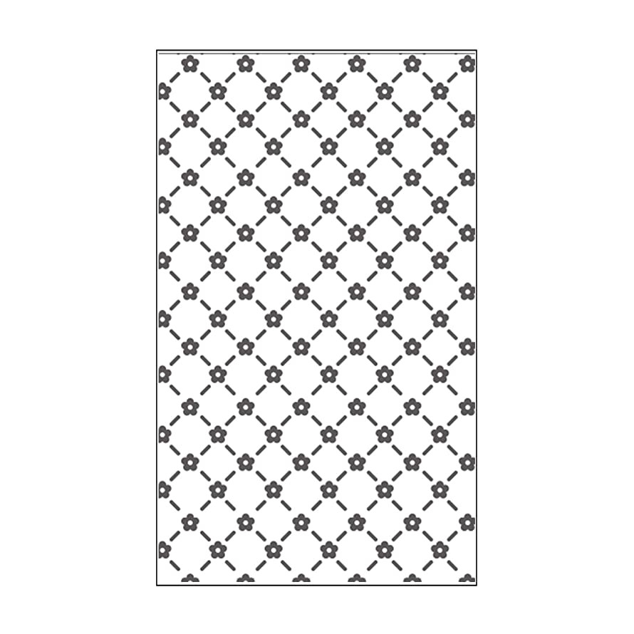 Vaessen Creative Mini Embossing Folder, Floral Lattice, for Adding Texture and Dimension to Scrapbook Pages, Cards and Other Papercraft Projects, 3 x 5 inches