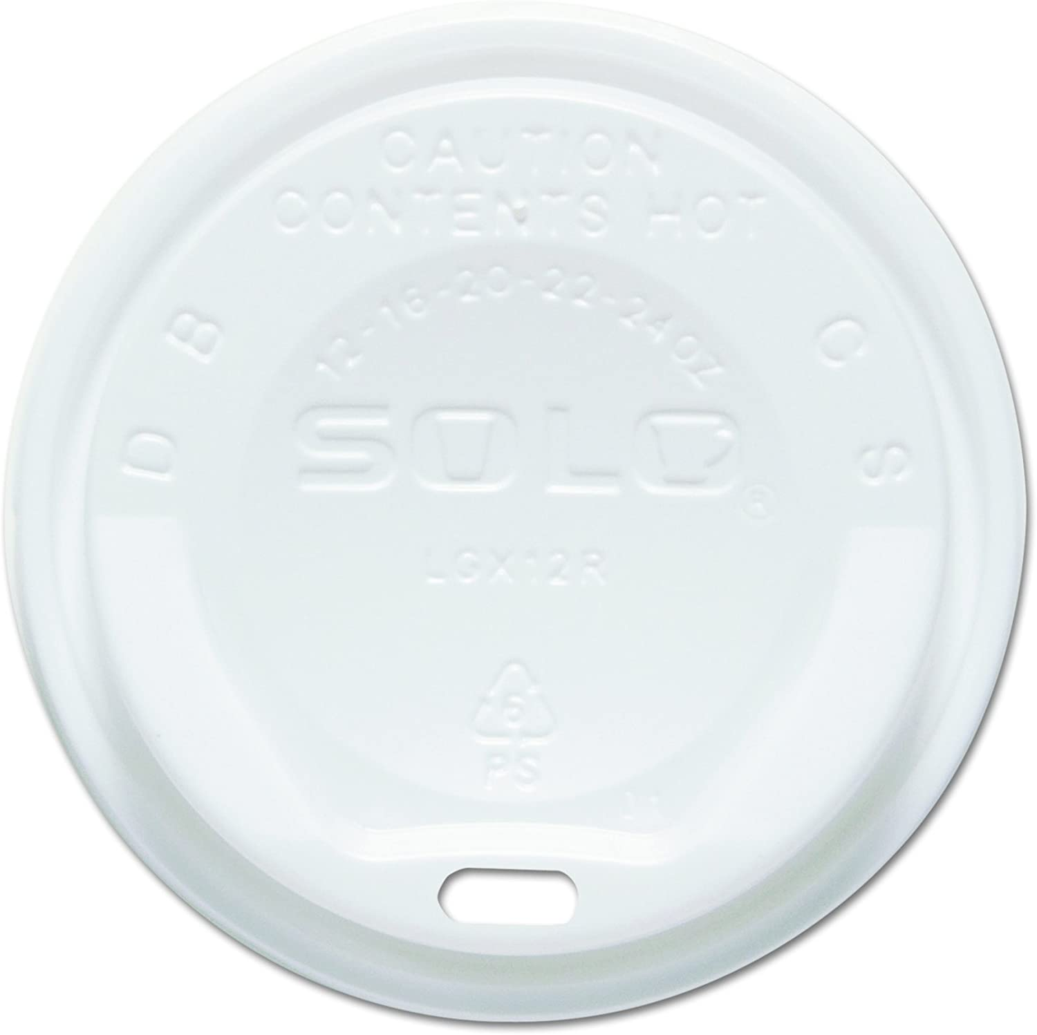 Solo LGXW2-0007 White Plastic Gourmet Dome Lid - For Trophy Plus Cups (Case of 1500)