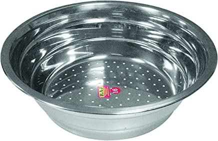 RAJ Stainless Steel Steamer Pots 1Pieces- Grey