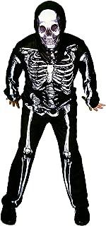 flatwhite Men's Skeleton Halloween Costume Black,White