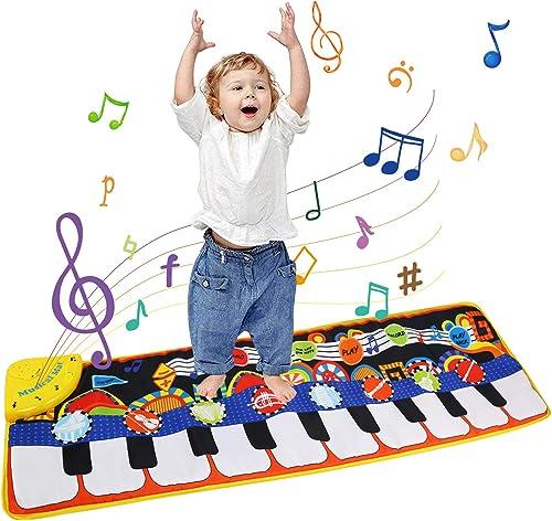 Ballery Tapis de Piano, Tapis de Piano Musical Tapis de Danse, Tapis Musical Bébé Piano Tapis de jeu Musical Instrume...