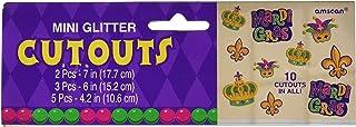 Amscan Mini Glitter Cutouts Party Decoration, One Size, Multicolor