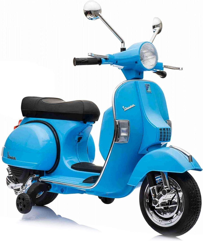 SIP Scootershop Vespa GTS Patinete eléctrico 12 V, color azul incluye batería y cargador