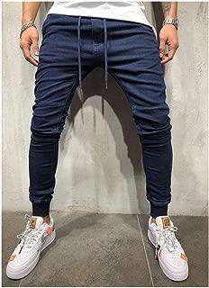 LUKEEXIN Casual Skinny Jeans Men Straight Denim Jeans Male Pants