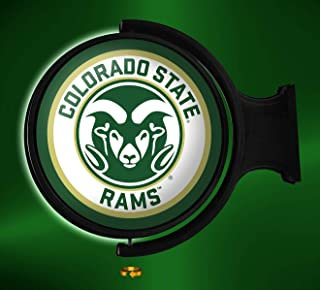 Shop Grimm Colorado State University Rotating Illuminated LED Wall Sign Featuring The CSU Rams Primary Logo - Made in USA (Round)