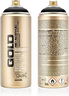 Montana Cans MXG-S9000 Montana Gold 400 ml Color, Shock Black Spray Paint,