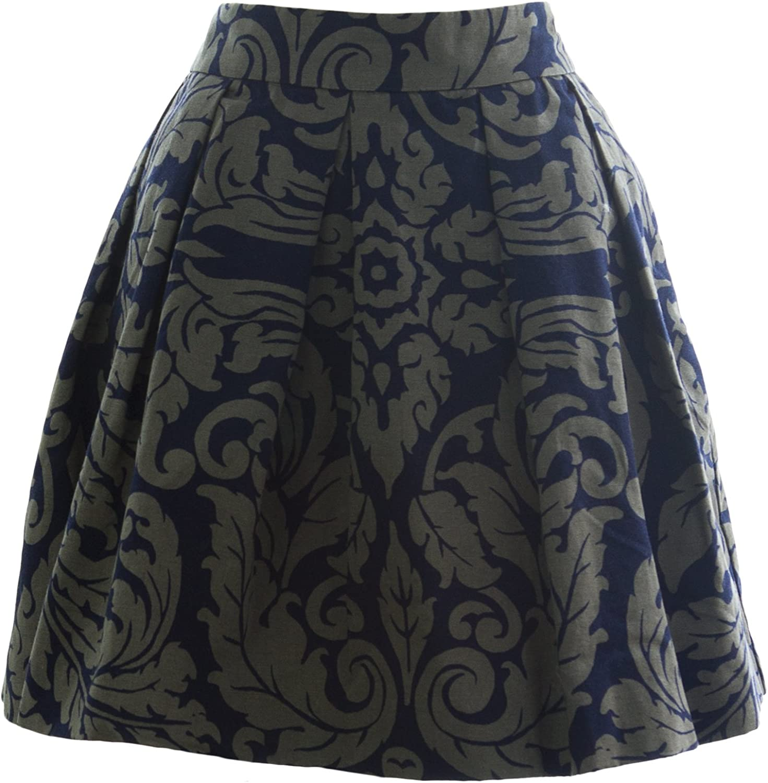 BODEN Women's Sophia Skirt US Sz 10S Navy Taupe