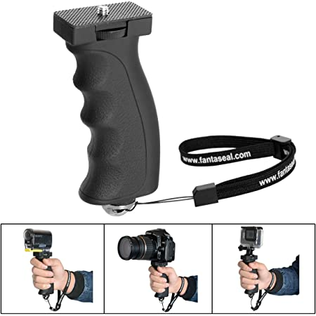 GoPro Hero 8 7 6 5//4//3//Session Sony Garmin Virb SJCAM Action Camera Hand Grip Stabilizer Handle Holder Fantaseal Ergonomic Camera Grip Mount Compatible with Nikon Canon Sony DSLR Camera Camcorder