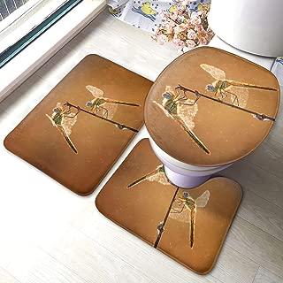 xueminlidianzi Set of 3 Doormats Dragonfly (14) Bathroom Rugs Extra Absorbent Slip-Resistant Floor Mats Machine Washable