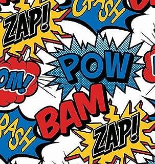 Superhero Comic Rolled Gift Wrap Paper - 24