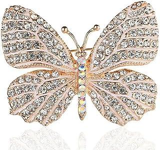 Broche Pins Femmes Broches de Broche en or de Mode Broches de Papillon en Alliage Broche de Perles Artificielles Exquises pour Costumes Sacs Chapeaux /Écharpes 4 Pi/èces Robes Ch/âles Chandails