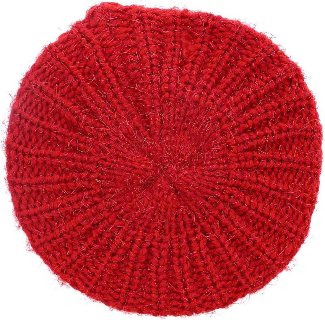 Landana Headscarves Shaggy Glitter Knit Beret Hat for Women