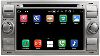 (Silver) 7 Inch TouchscreenAndroid 10.0 Car Radio Compatible with Compatible withd Focus(2005-2007)/Fiesta(2005-2008)/Kuga...