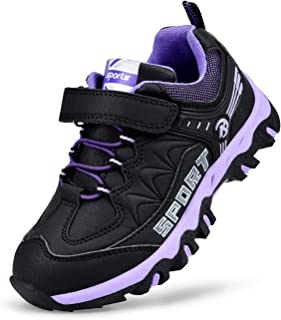 Kostiko Girls Boys Sneakers Waterproof Kids Hiking Shoes(Toddler/Little Kid/Big Kid)